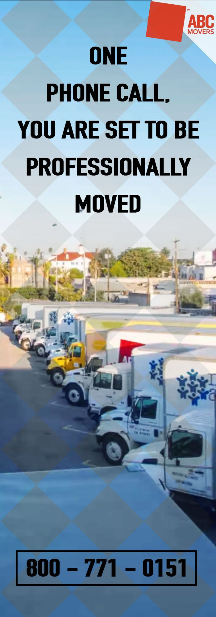 Professional moving service is just one phone call away. Get your move planned and executed by ABC Movers.