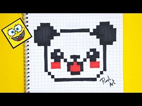 Pixel Art Comment Dessiner Un Panda Kawaii Pas A Pas Youtube