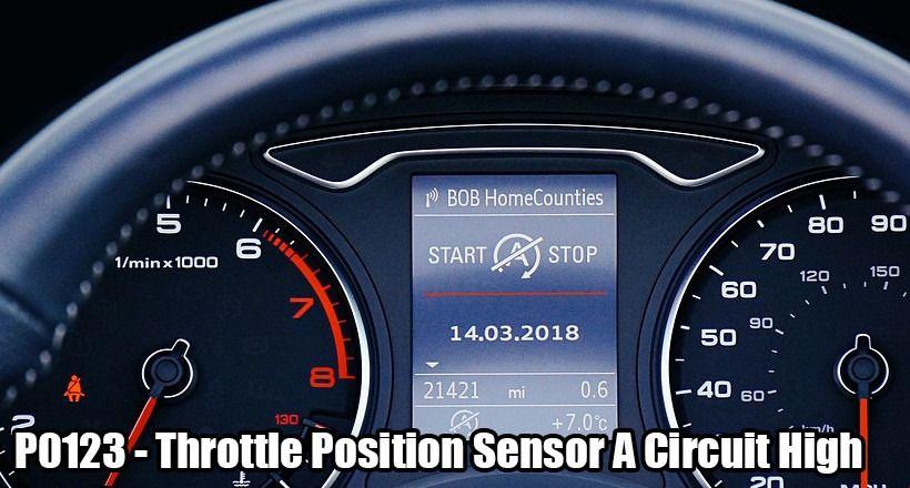 p0123 fault code remedies throttle position sensor