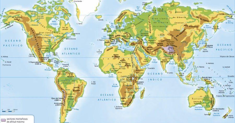 Cordillera Del Himalaya Mapa.Las Principales Cadenas Montanosas Del Mundo Son Las