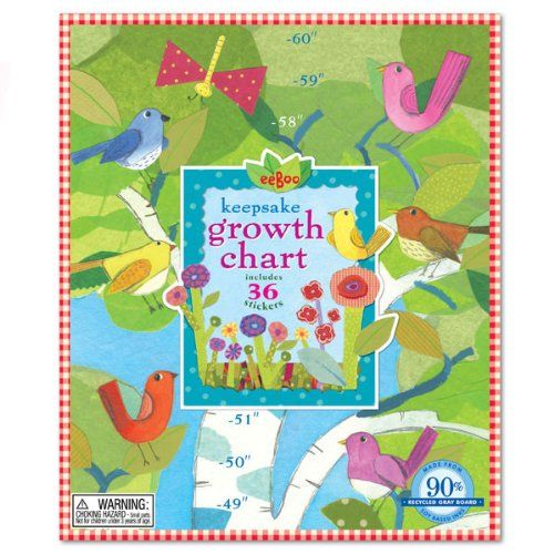 Amazon.com: Birds in a Birch Growth Chart: Toys & Games