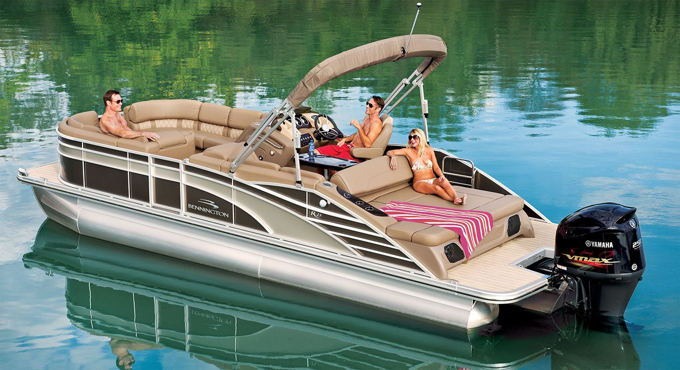 R23 Swingback Pontoon Boats By Bennington With Images