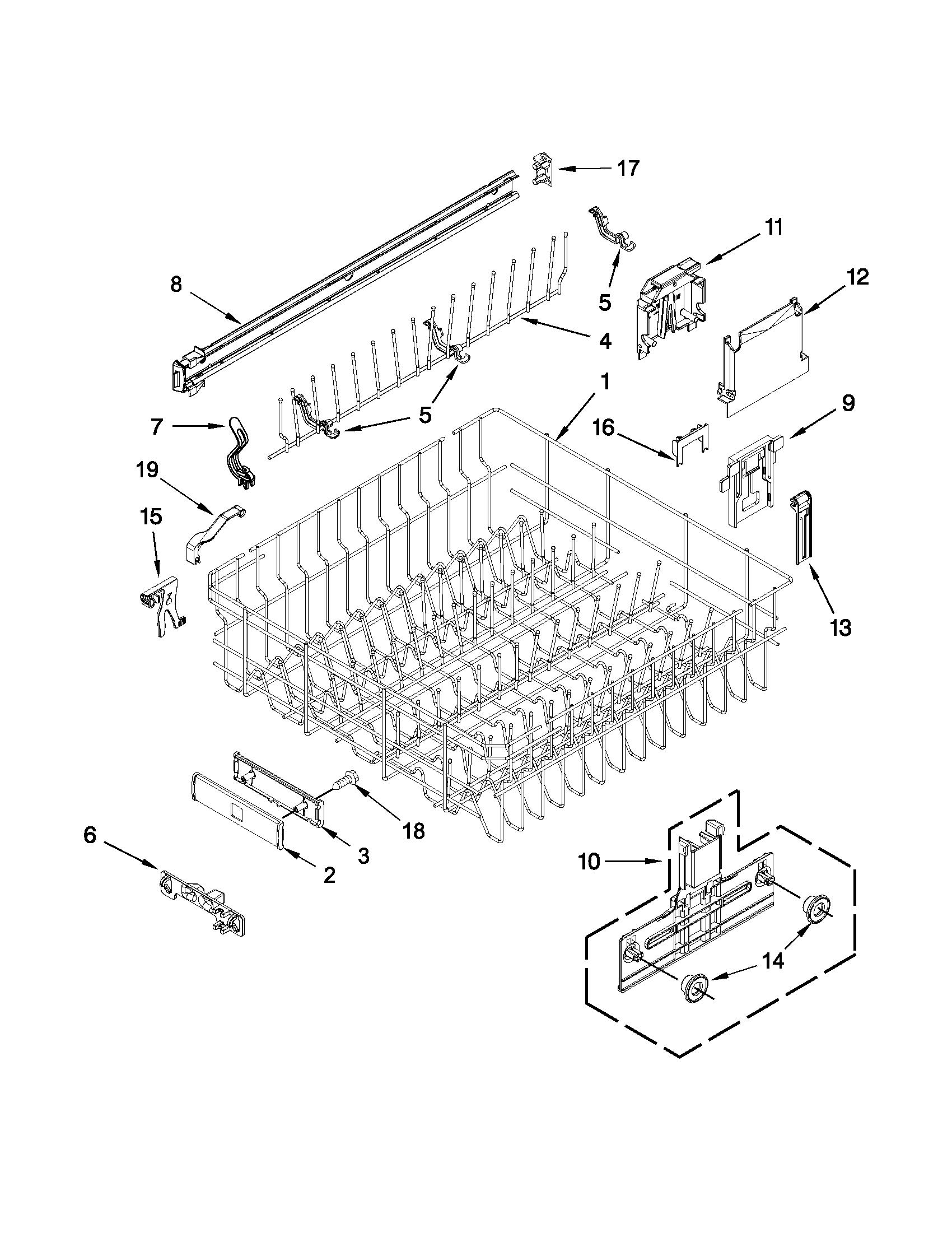 wiring diagram for kenmore elite dishwasher data schematic diagram kenmore elite dishwasher model 66512769k310 upper rack [ 1700 x 2201 Pixel ]