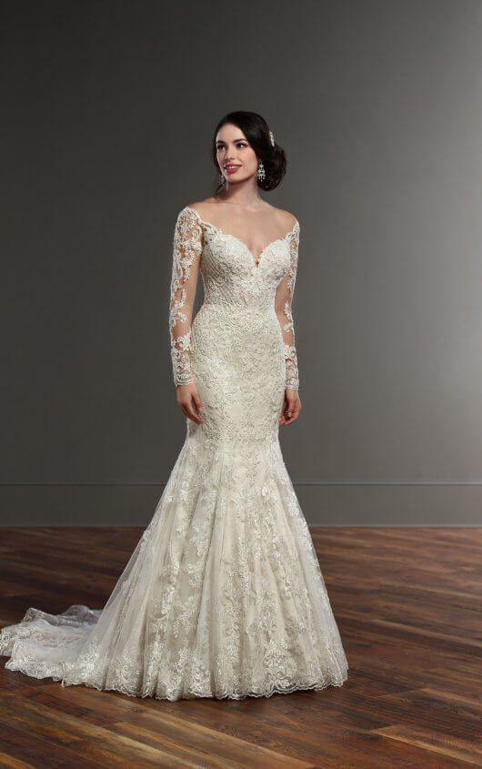 Wedding Dresses | Pinterest | Sleeved wedding gowns, Long sleeve ...