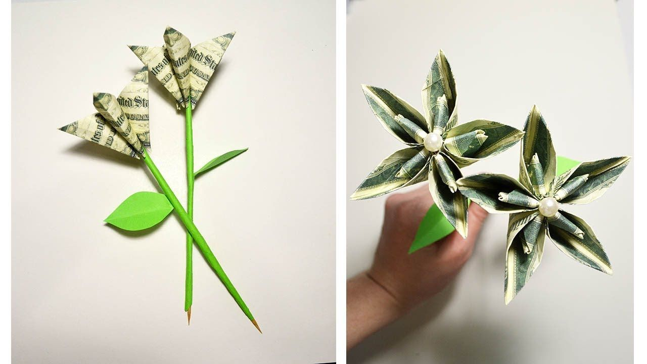 Gift for valentines day money flower origami tutorial diy no glue gift for valentines day money flower origami tutorial diy no glue and tape youtube mightylinksfo