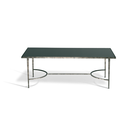 Porta Romana Cft08 Salvatore Coffee Table Burnt Silver With Black Glass Top Coffee Table Furniture Glass Top