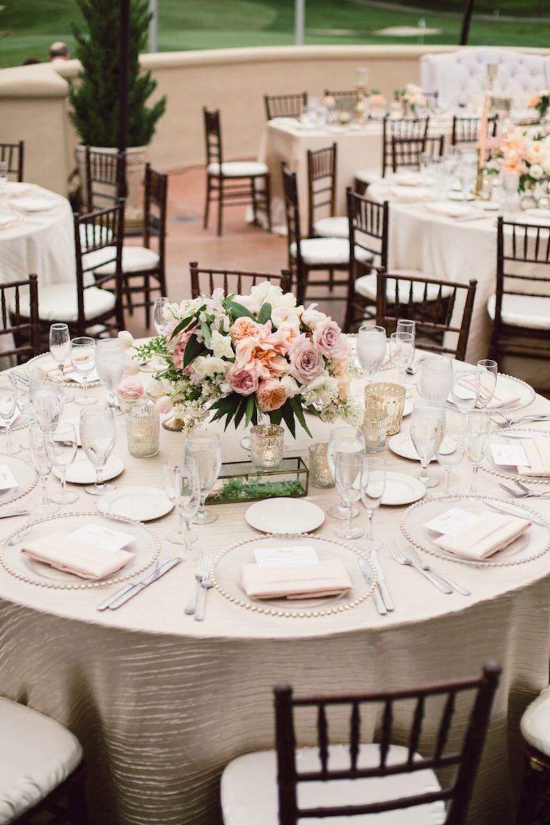 Peach Blush Country Club Wedding Wedding Table Layouts