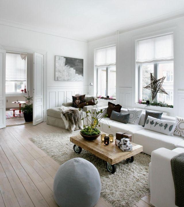 le salon moderne et contemporain en 30 exemples salon deco style scandinave et salon. Black Bedroom Furniture Sets. Home Design Ideas