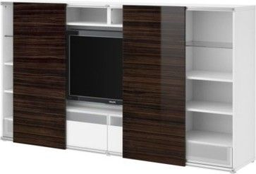 Besta Inreda Tv Storage Combo With Sliding Doors Modern Media