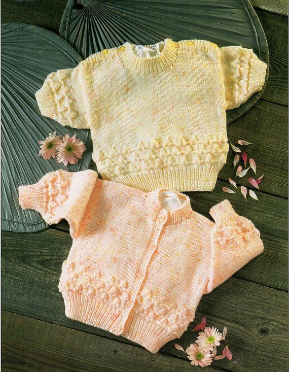 Baby Sweater Baby Cardigan Knitting Pattern Pdf Premature Sizes Baby