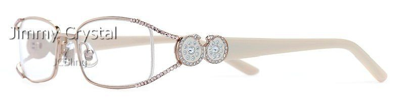 Jimmy+Crystal+Lady\'s+White+Frame+Crystal+Reading+Glasses | Fashion ...