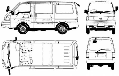 Nissan vanette cargo internal diions #1 in 2019 | Nissan ... on