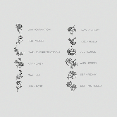 Small Tattoo Birth Flowers – Enamel Pin- # birth #emaille #flowers #kleines #ta …