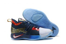 b23b4196a67e Reliable Nike PG 2 EP Pelicans Navy Blue White Red Men s Basketball Shoes  Male Sneakers
