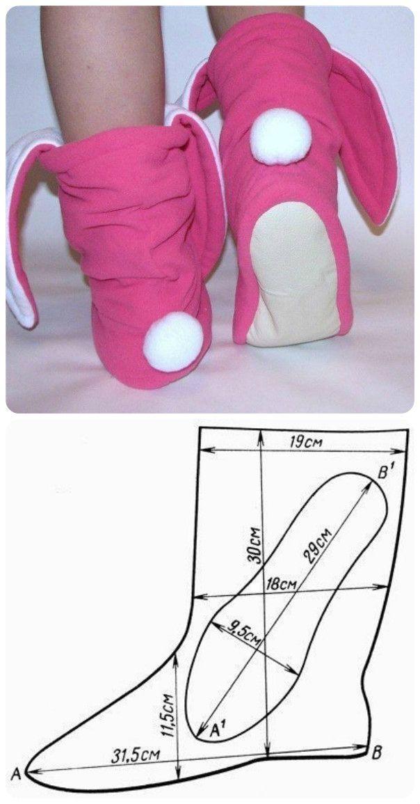 сапожки-зайки | costura | Pinterest | Zapatos, Costura y Pantuflas