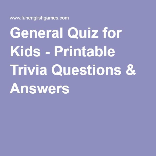photo about Printable Trivia Questions for Kids named Total Quiz for Young children - Printable Trivia Concerns Methods