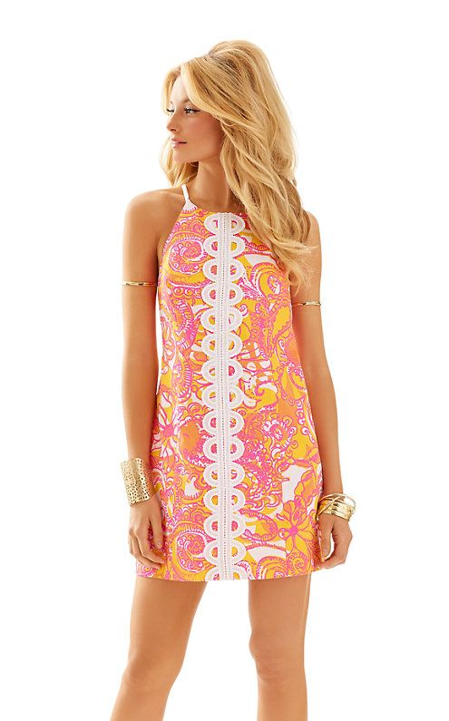 326507deb267e7 Lilly Pulitzer Annabelle Shift Dress in Sea and Be Seen Lace Detail, Lilly  Pulitzer,