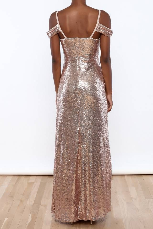 Sequin Off Shoulder Dress : Shoptiques