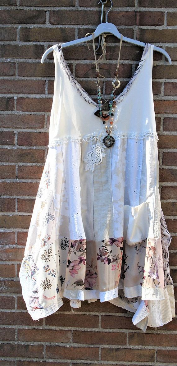Lengthy Tunic Upcycled Tshirt Prime, Upcycled Clothes ,Boho Patchwork Costume LXL Prairie Stylish, Hippie Costume,Cowgirl, Lightweight materials is part of Upcycle Clothes Boho - Lengthy Tunic Upcycled Tshirt Prime Upcycled Clothes Boho Source by marihector225