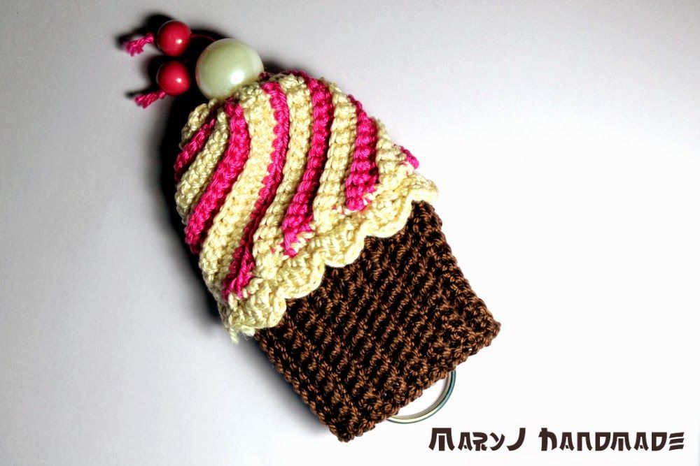 MaryJ Handmade: Cupcake all'uncinetto   Crocheted cupcake free tutorial