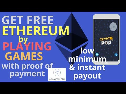 Get Ethereum and Popcoin from our faucet by playing games  Collect