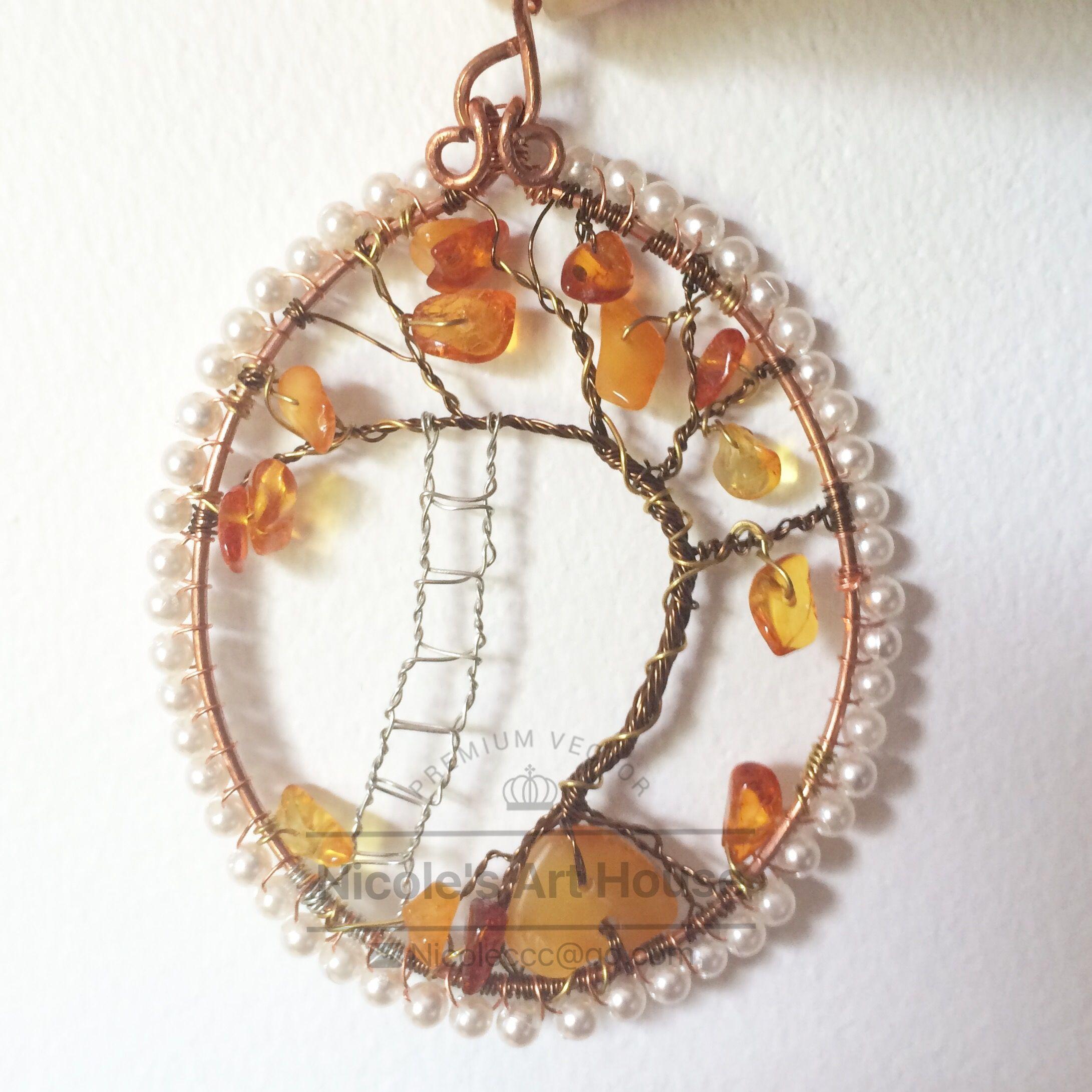 Nicole\'s handmade tree of life | Fall | Pinterest | Nicole s, Wire ...