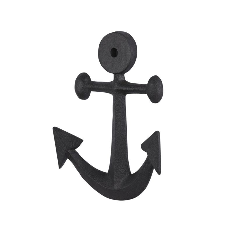 Free Shipping Shop Nautical Anchor Wall Hook This Nautical Hook Anchors The Look Of Any Bedroom Bath Anchor Wall Hooks Crate And Barrel Anchor Throw Pillows