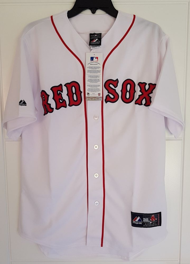 b1076e71 MAJESTIC BOSTON RED SOX Official MLB Baseball Jersey Shirt Authentic ...