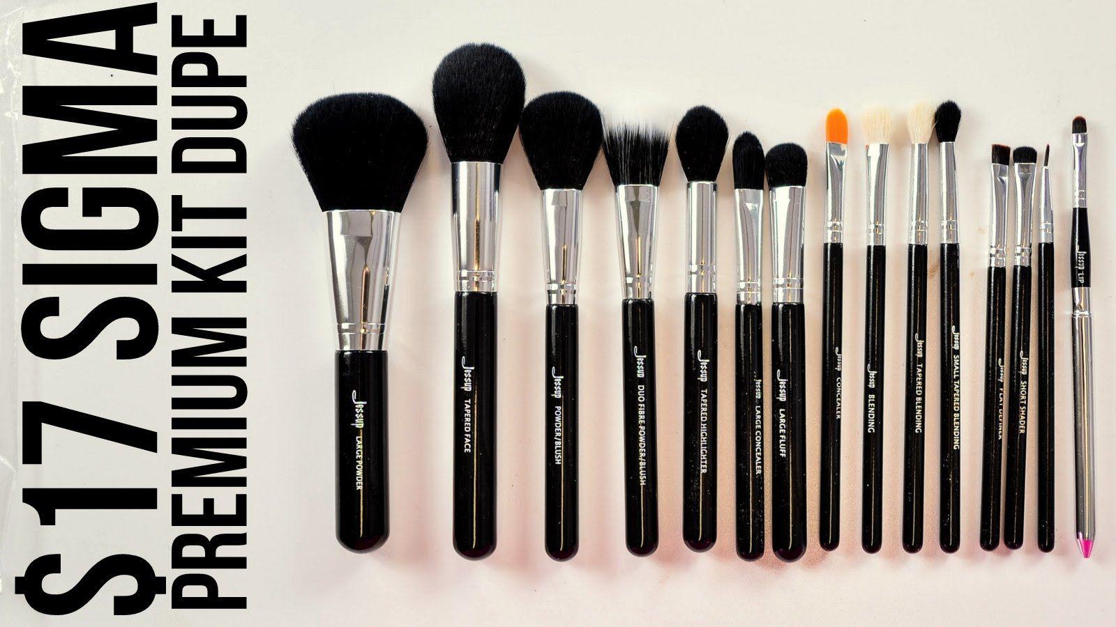 17 SIGMA PREMIUM KIT DUPE!!!! Makeup brush dupes