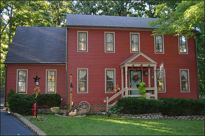 Beautiful Country Home Colonial House Exteriors Red House Exterior Farmhouse Exterior