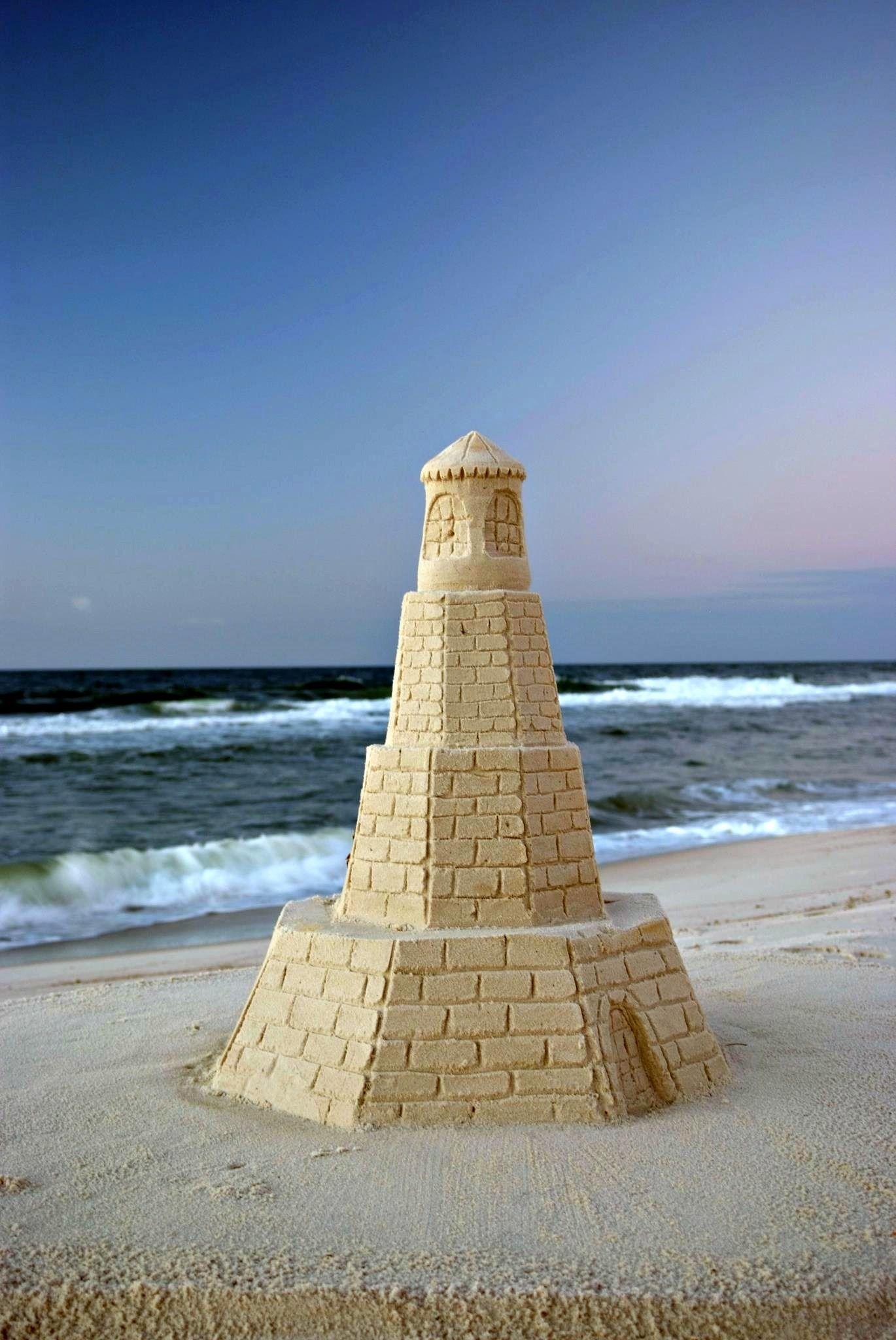 A Sandcastle Guards The Beach At Nearby Perdido Key Pensacola
