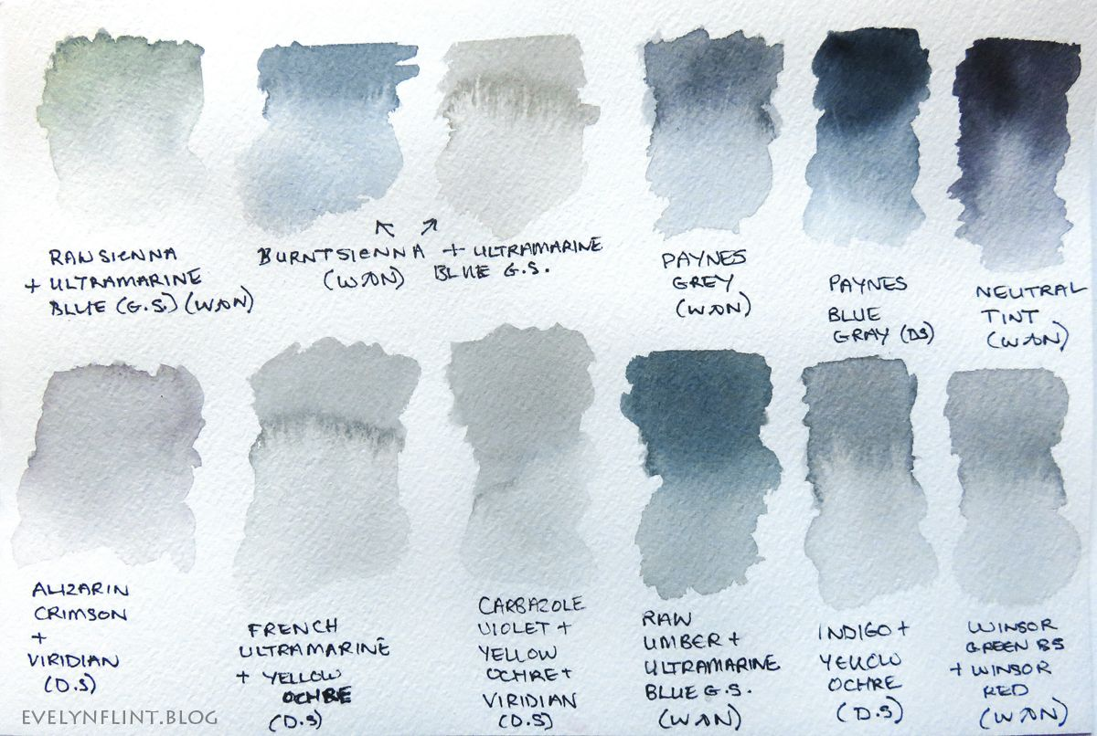 Paynes Grey Black Mixes Color Mixing Chart Color Mixing