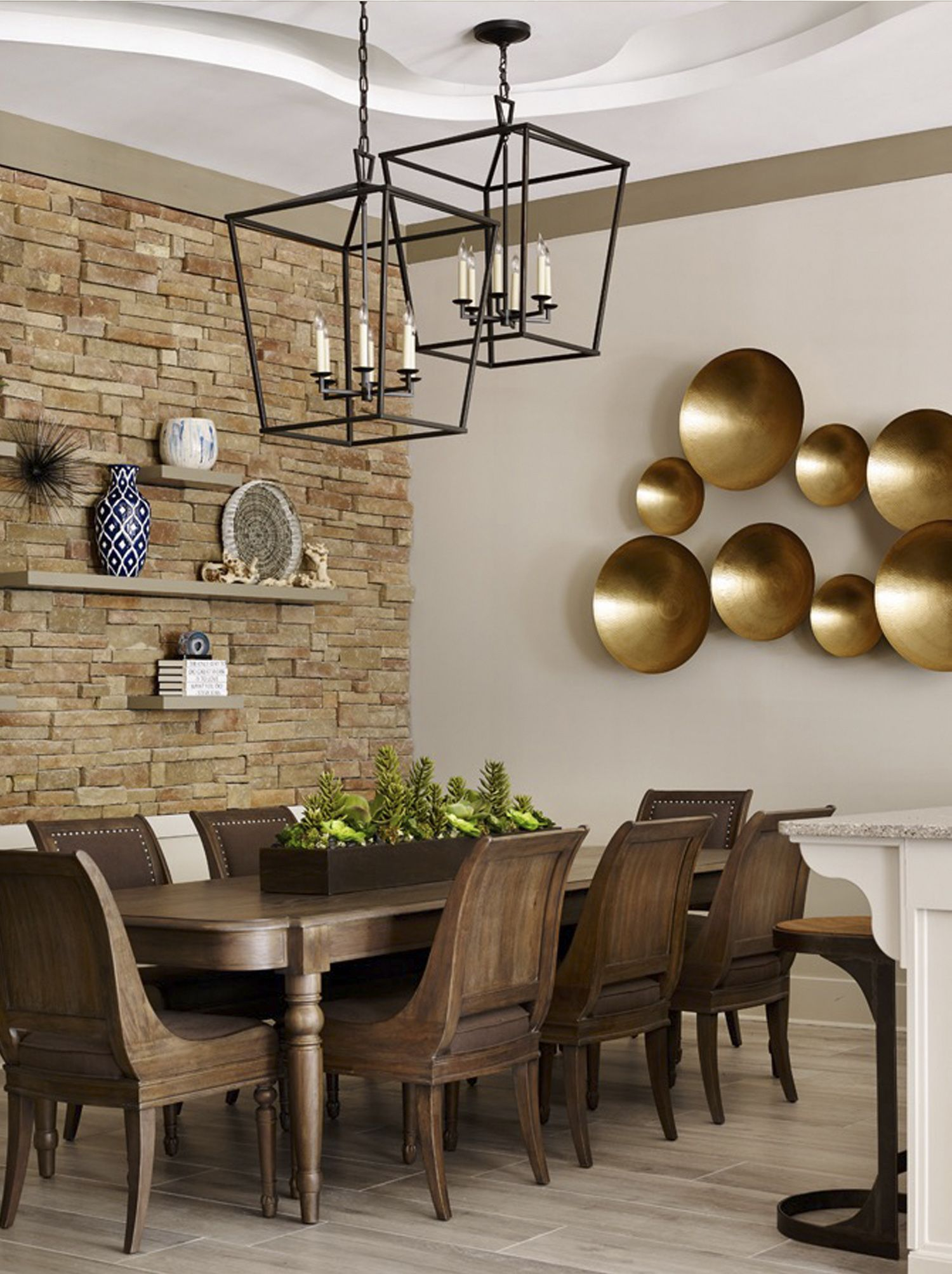 Interior by kandrac kole bernhardt belgian oak dining table and a brick statement wall is so chic for the dining room dzzzfo
