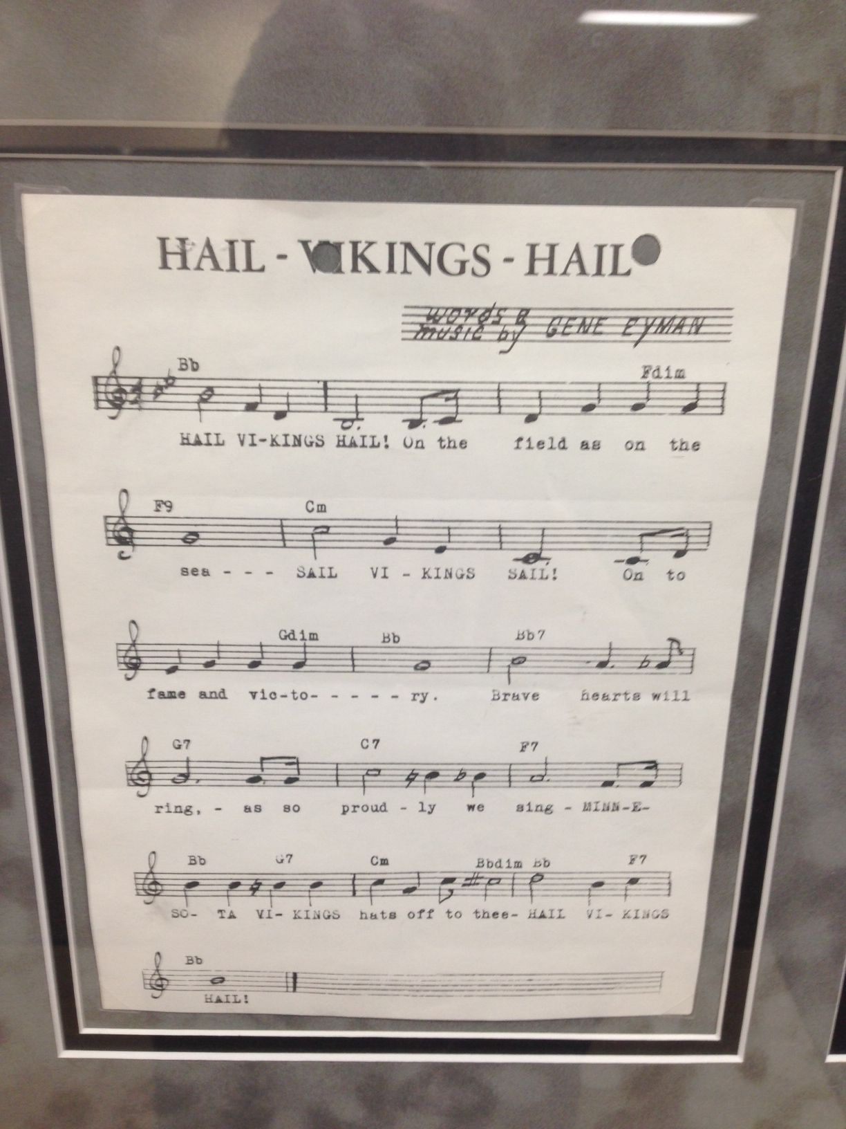 Hanging On The Wall The Vikings 1961 Fight Song My Favorite Team