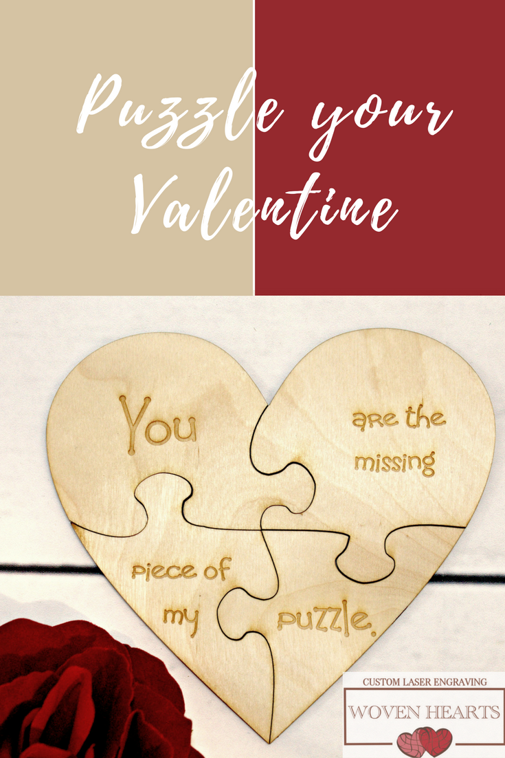Personalized Hearts Puzzle, 4 Piece Wooden Message Puzzle | Custom ...