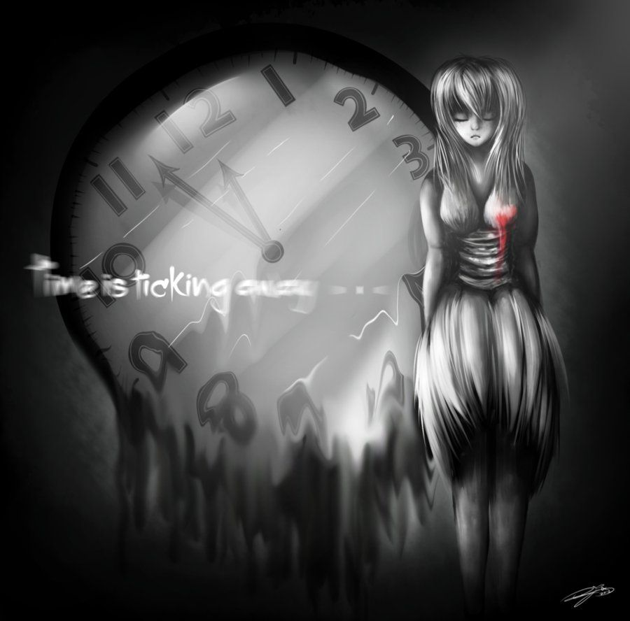 Time Ticking . - Gothic Goth Emo Scene Girl