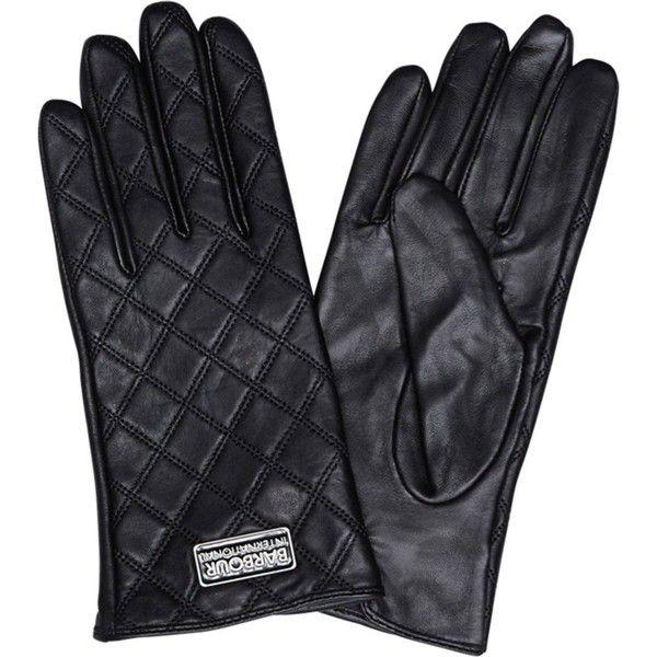 Women's Barbour International Burton Leather Gloves - Black (£55 ... : barbour quilted gloves - Adamdwight.com