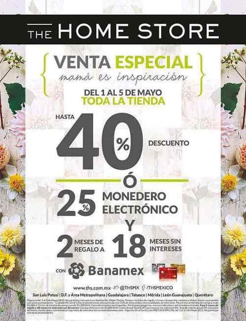 The Home Store Venta Especial Hasta 40% de Descuento
