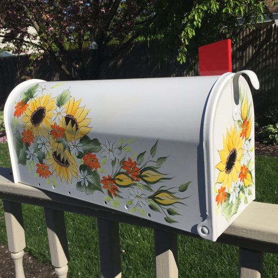 hand painted mailbox designs. Painted Mailbox Hand By DaisyCustomPainting Designs