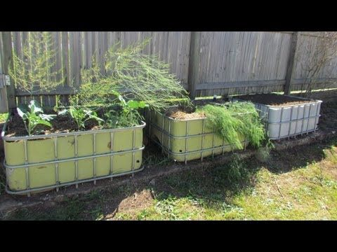 Self Watering Wicking Bed, IBC Beds With A Few Modifications..   YouTube