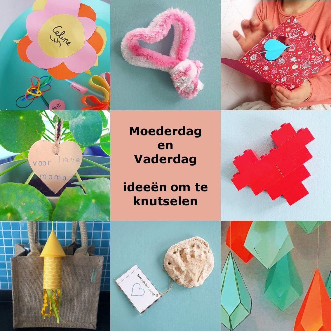 Goede Moederdag en Vaderdag: ideeën om te knutselen - Kids crafts IE-52