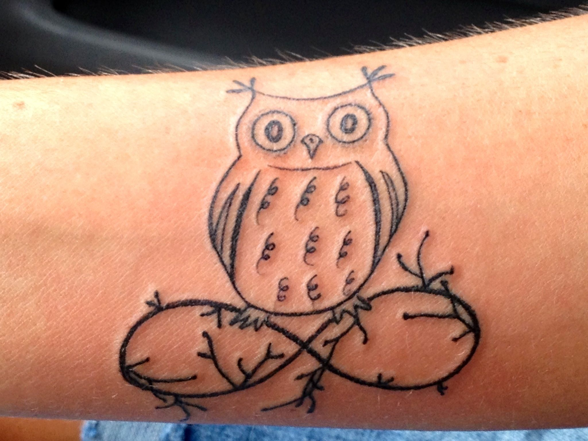 21 best projects to try images on pinterest tattoo ideas owl instead of having the owl sit on the infinity symbol incorporate the symbol in the owls eyes small tattoo of just owl head on wrist to symbol how the biocorpaavc Images