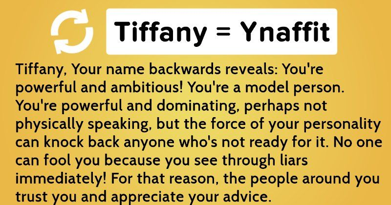 What does your name mean backwards?
