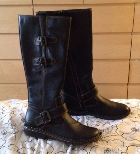 0ffe8b84263c NEW BOC by Born Womens Cleo Black Leather Knee High Boots size 7.5 M