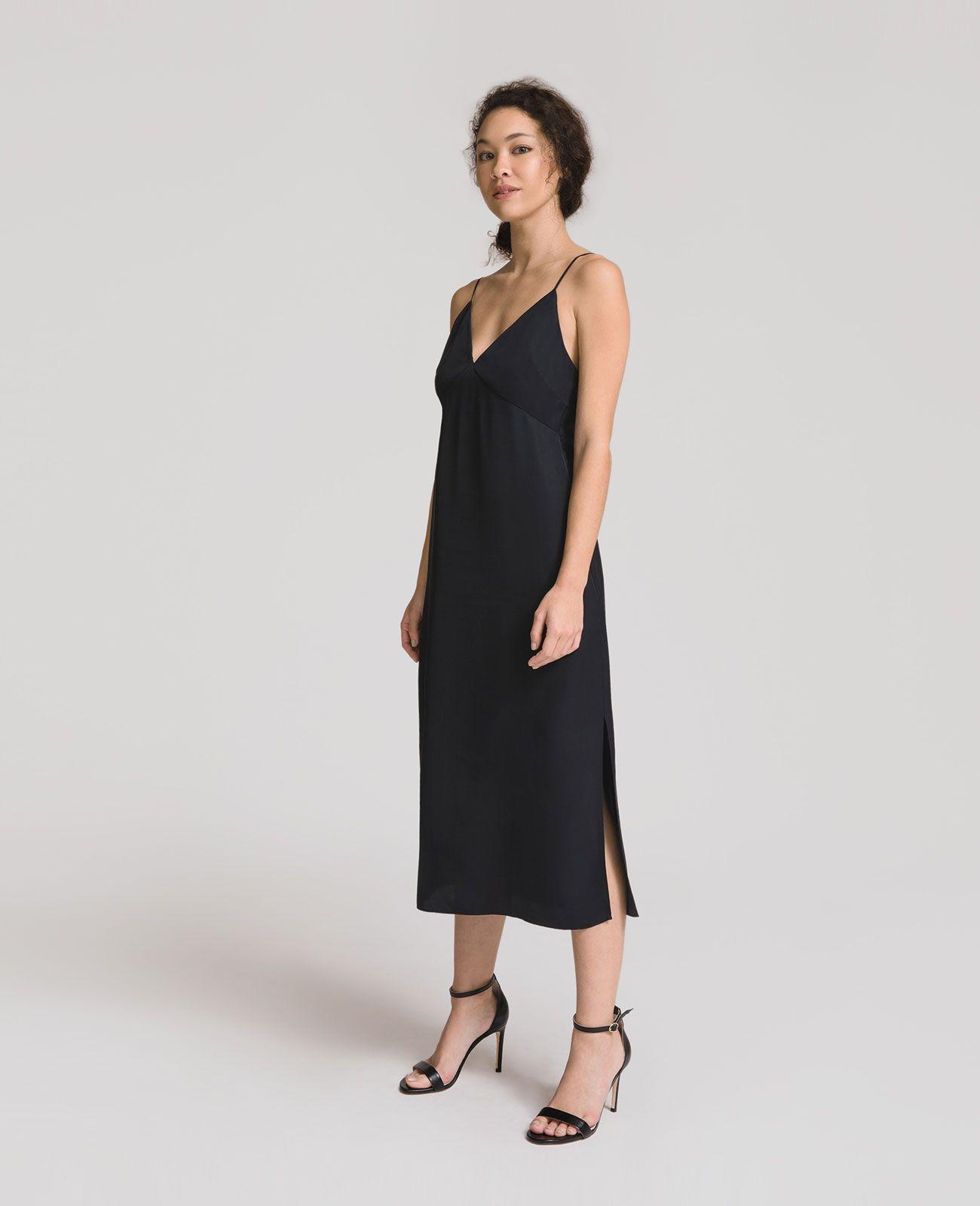 a2100b53eba6 Silk Panelled V-Neck Slip Dress in 2019   Stitch Fix   Dresses, Slip ...
