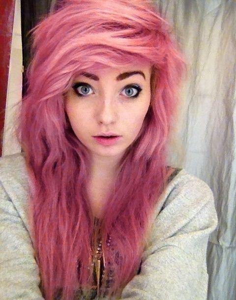 cortes de cabello y peinados emo para chicas colores del estilo manga quedan muy