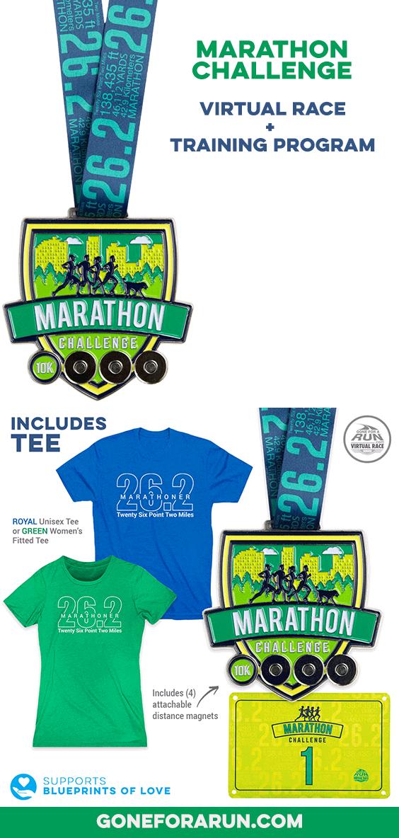 Virtual Race - Marathon Challenge | Gone For a Run