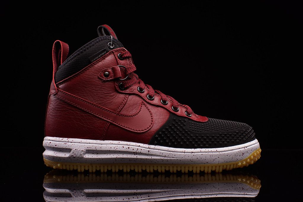 Nike Lunar Force 1 Duckboot BlackTeam Red | Duck boots
