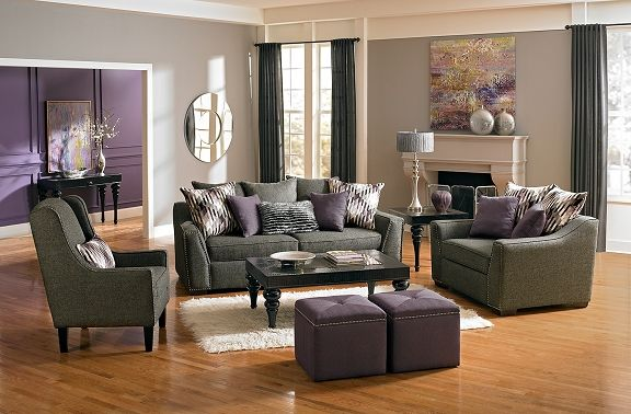 Ritz Upholstery Collection Value City Furniture Sofa 599 99 Vcfwishlist Purple Living Room Purple Living Room Furniture Living Room Grey