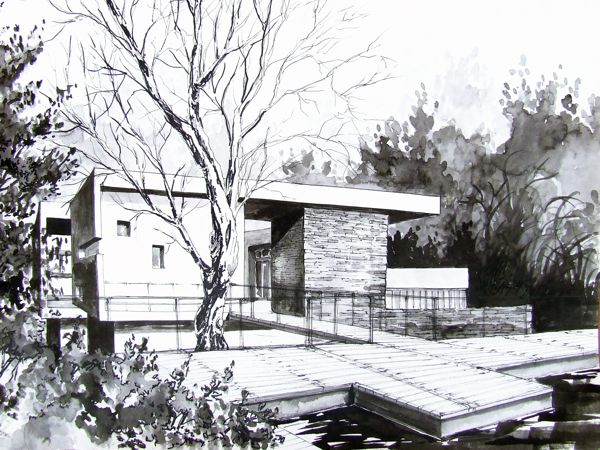 Modern Architecture Drawing modern houses - conceptsksymena borczyńska, via behance sketch